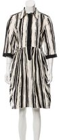 Hache Striped Button-Up Dress w/ Tags