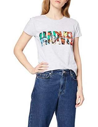 Marvel Women's Logo Character Infill T-Shirt,12 (Size:L)
