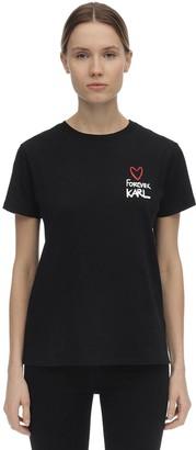 Karl Lagerfeld Paris Forever Cotton Jersey T-shirt