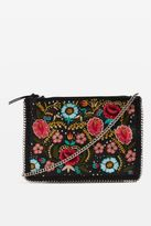 Topshop AVA Floral Embroidered Cross Body Bag