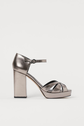 H&M Leather platform sandals