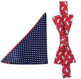 Alara Silk Reagan GOP Elephant Bow Tie & Pocket Square Set