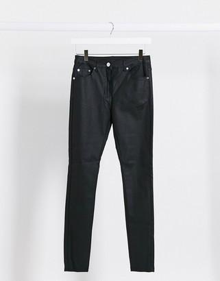 Parisian coated jeans