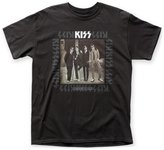 Impact Kiss Glam Hard Rock Band Music Group Dressed To Kill Adult T-Shirt Tee