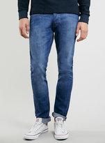 Topman Bright 70s Wash Stretch Slim Jeans