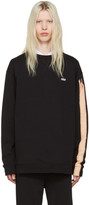 Raf Simons Black Oversized 'Hyena' Pullover