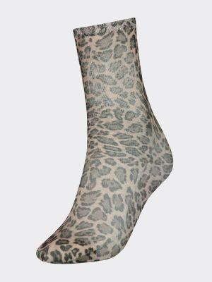 Tommy Hilfiger Zendaya Leopard Print Socks