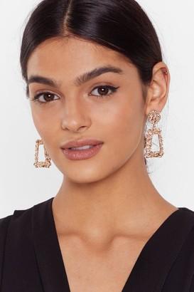 Nasty Gal Womens Knock Knock Medium Drop Earrings - Gold