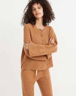 Madewell (Re)sourced Cashmere Ribbed Henley Sweater