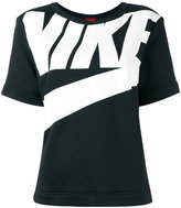 Nike logo print T-shirt - women - Cotton/Polyester/Viscose - S