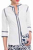 Gretchen Scott White Button-Down Blouse