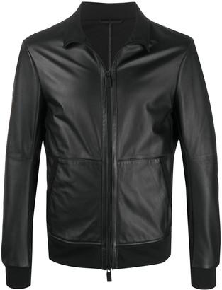 Emporio Armani Funnel-Neck Zipped Jacket