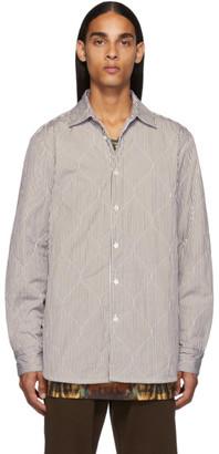 Dries Van Noten Brown Quilted Military Shirt
