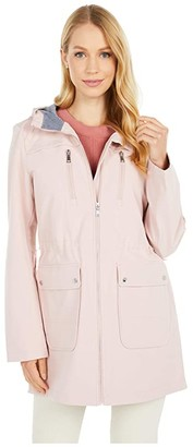 Vince Camuto Hooded Softshell Anorak V10711-ZA (Powder Pink) Women's Clothing