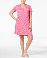 Charter Club Plus Size Henley-Style Sleepshirt, Only at Macy's