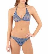 Solar Women's Tan Thru Missoni Blue Bikini Set 46705