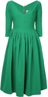 Preen by Thornton Bregazzi plunge-neck flared dress
