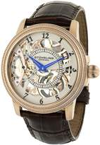 Stuhrling Original Men's Symphony Saturnalia Brumalia Mechanical Skeleton Rose Tone Watch 228.33452