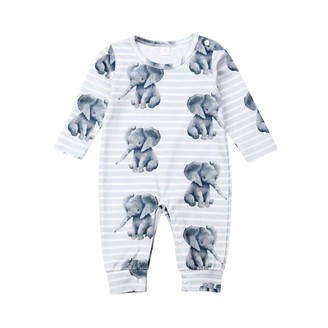Sizes 0-9 Months SIBINULO Baby Boys Baby Girls Sleepsuit with Feet Mix