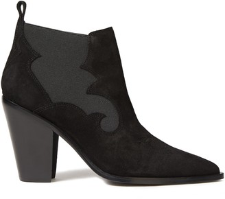 Sigerson Morrison Kaleb Snake-effect Leather Ankle Boots