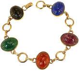 One Kings Lane Vintage 1930s Art Glass Scarab Bracelet