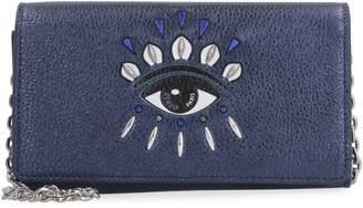 Kenzo Kontact Eye Metallic Leather Wallet On Chain