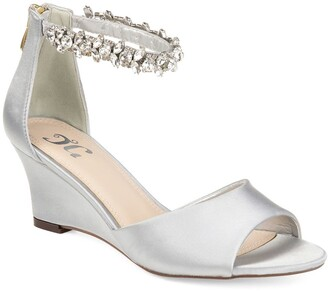 Journee Collection Connor Embellished Strap Wedge Sandal