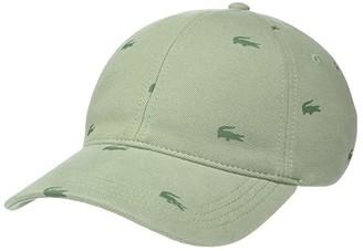 Lacoste Father's Day Pique Cap (Thyme/Aucuba) Baseball Caps