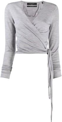 AllSaints Wrap Jersey Top