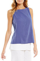 Eileen Fisher Bateau Neck Shell