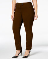 Style&Co. Style & Co. Plus Size Tummy-Control Straight-Leg Trousers