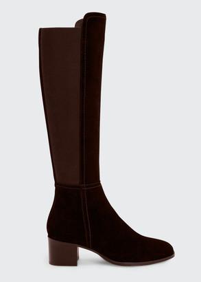 Aquatalia 55mm Nova Stretch Suede Over-the-Knee Boots