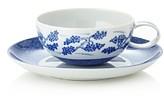 Mottahedeh Blue Shou Tea Cup & Saucer