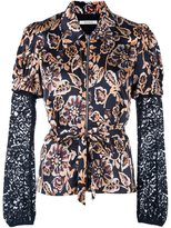 Rodarte floral print fitted shirt