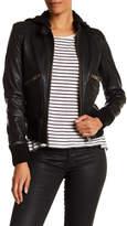 Doma Washed Lamb Nappa Leather Bomber Jacket