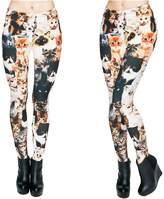 Kukubird Printed Patterns Women's Yoga Leggings Gym Fitness Running Pilates Tights Skinny Pants 8 to 12 Stretchable