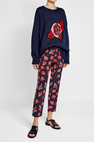 Markus Lupfer Printed Silk Pants with Chiffon Trims