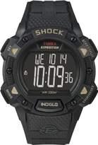 Timex Men'sT49896CS Expedition Rugged Shock Digital Chorno Alarm Timer All Black Resin Strap