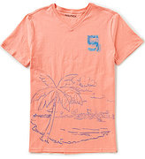 Nautica Faded Palm Graphic V-Neck Short-Sleeve T-Shirt
