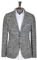 Burton Mens Grey Wool Blend Boucle Blazer