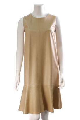 Chanel Beige Leather Dresses