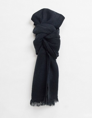 ASOS DESIGN lightweight scarf in black