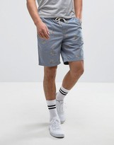 Vans Range Printed Shorts In Blue VA2ZY4KWJ