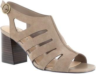 Bella Vita Leather Gladiator Block Heel Sandals - Colleen