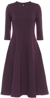Marni Double-face wool jersey midi dress