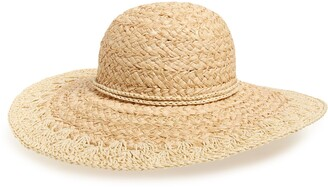 Rachel Parcell Crochet Brim Floppy Hat