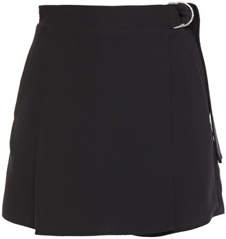Carven Draped Crepe Shorts