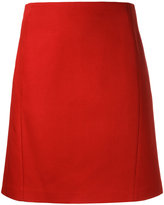 Jil Sander Navy a-line skirt - women - Cotton - 40