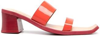 Martine Rose Rupi patent leather sandals