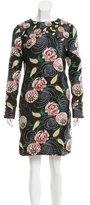 Suno Floral Jacquard Mini Dress
